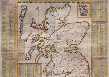 CHATELAIN MAP OF SCOTLAND