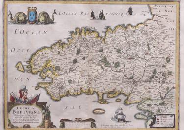JANSSONIUS MAP OF BRITTANY