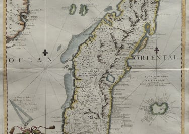 CORONELLI'S SUPERB MAP OF MADAGASCAR