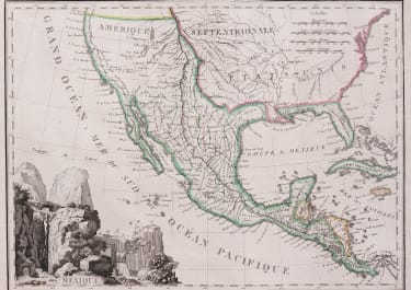 TARDIEU'S MAP OF MEXICO & CALIFORNIA WITH PROVINCE OF TEXAS