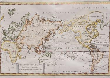 PLANISHERE WORLD MAP   BONNE UNCOMMON