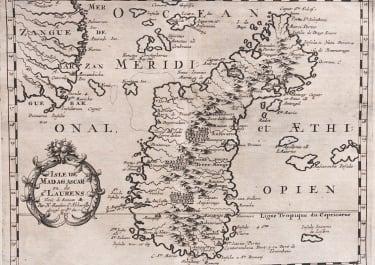 SANSON'S RARE MAP OF MADAGASCAR