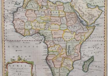 JEFFERYS MAP OF AFRICA  BY TRIBAL REGIONS  RARE