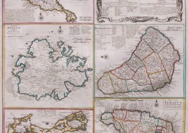 HOMANN'S MAP OF ISLANS IN THE CARIBBEAN