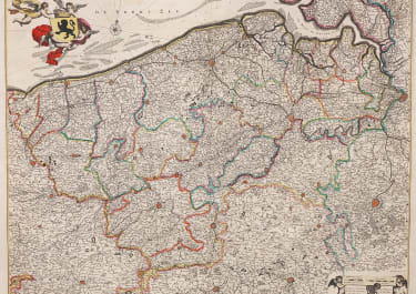 DE WIT SUPERB MAP OF FLANDERS