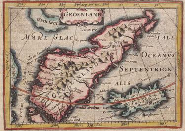 BERTIUS   RARE EARLY MAP OF GREENLAND