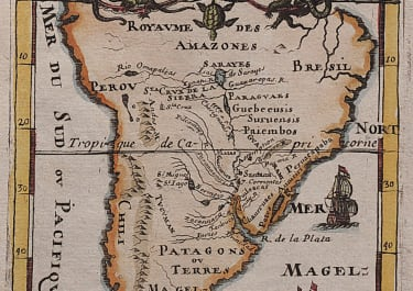 MALLET  MAP OF THE SOUTHERN PART OF SOUTH AMERICA