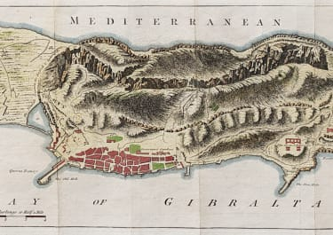 PLAN OF GIBRALTER BY GIBSON GOR GENTS MAGAZINE