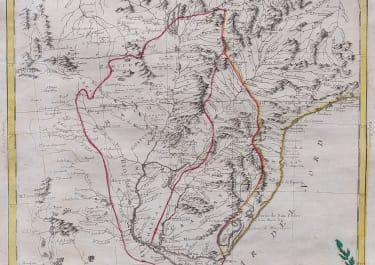 ZATTA MAP OF PARAGUAY & PARAGUAY 1785