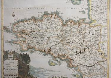 SCARCE BRITTANY MAP BY TIRION