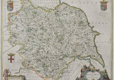 BLAEU MAP OF YORKSHIRE