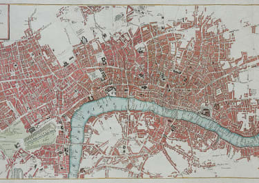 LONDON DETAILED BY WEIMAR DATED ON MAP 1809