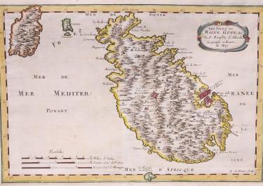 SANSON MAP OF MALTA