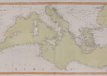RARE WEIMAR CHART OF THE MEDITERRANEAN SEA  SUPERB