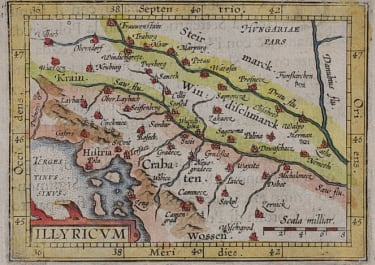ORTELIUS MAP OF COATIA  BOSNIA..