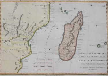 BONNE MAP OF MADAGASCAR