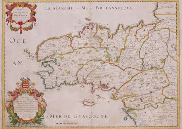 SANSON   SUPERB MAP OF BRITTANY