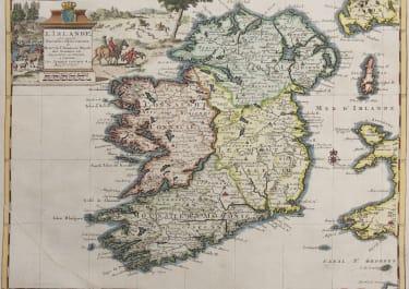 VAN DER AA MAP OF IRELAND