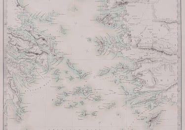 SDUK MAP OF GREEK ISLANDS ANCIENT