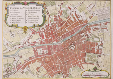 RARE MAP OF DUBLIN