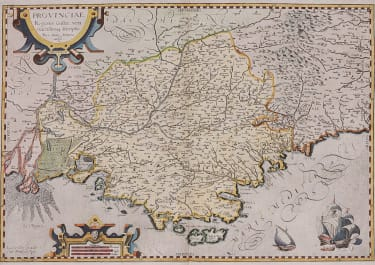 LECLERC SCARCE MAP OF PROVENCE