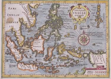 MERCATOR HONDIUS MAP OF EAST INDIES