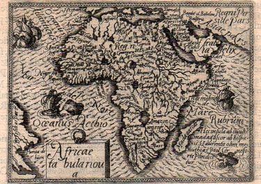 ORTELIUS AFRICA  FIRST EDITION EPITOME