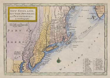 MOLL UNCOMMON MAP OF NEW ENGLAND
