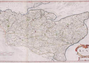 MORDEN LARGE MAP OF KENT