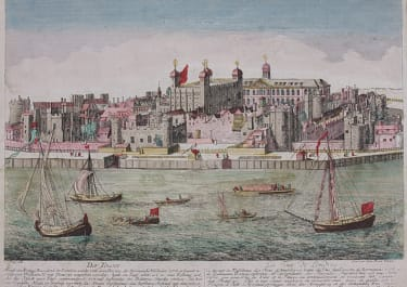 RARE GOOD VUE D'OPTIQUE OF THE TOWER OF LONDON  BY KNYF