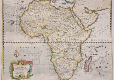 EMAN BOWEN'S FOLIO MAP OF AFRICA    RARE ENGLISH MAP