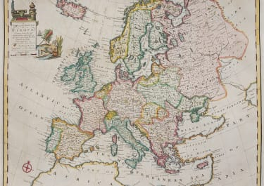 BOWEN   RARE FOLIO MAP OF EUROPE