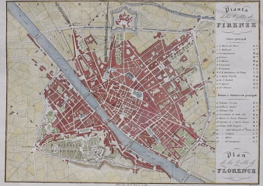 PLAN OF FLORENCE 1840    BY MODI