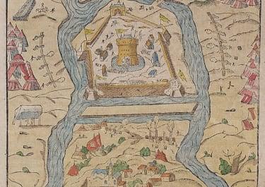 MUNSTER MAP   FORTRESS OF JULA  TOKAY HUNGARY
