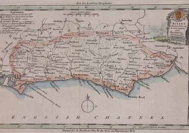 MAP OF SUSSEX BY T KITCHEN