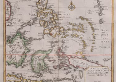 ALBRIZZI  TIRION  MAP OF PHILIPPINES BORNEO  AND NEW GUINEA