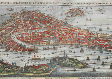 CHATELAIN'S STUNNING MAP VIEW OF VENICE 1719