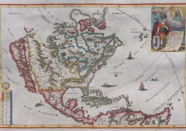 SCHERER  NORTH AMERICA  CALIFORNIA AS AN ISLAND RARE  1699