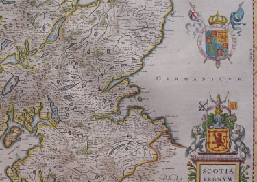 JANSSONIUS   ORIGINAL  MAP OF SCOTLAND