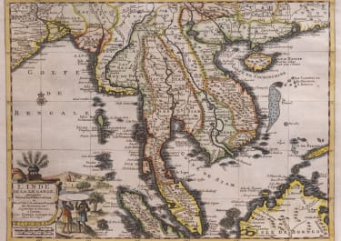 VAN DER AA MAP OF INDO CHINA  THAILAND MALAYSIA