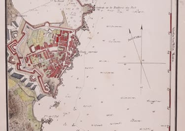 PLAN OF ANTIBES 1862  BY GAUTTIER