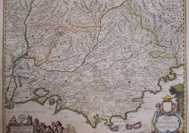 PROVENCE  JANSSONIUS MAP BY MR SAMSON