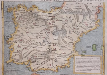 SPAIN  BY MUNSTER  RARE ITALIAN PRINTING 1550