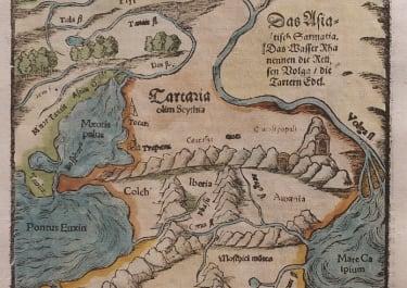 SARMATIA ASIE   GEORGIA  ARMENIA   MUNSTER 1570
