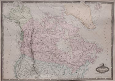 CANADA  DETAILED  GARNIER LITHOGRAPHIC MAP