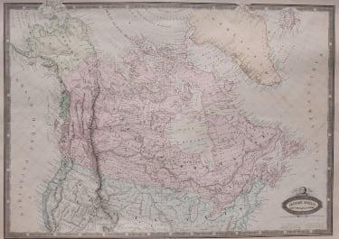 CANADA  DETAILED  GARNIER LITHOGRAPHIC MAP