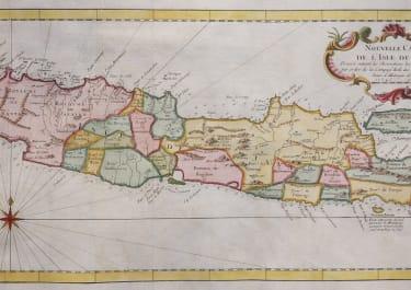 BELLIN DECORATIVE  MAP  OF JAVA