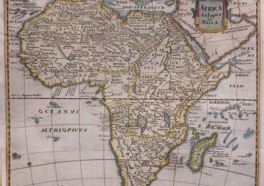 AFRICA CONTINENT HERMANN  MOSTING    LUNENBURG 1686