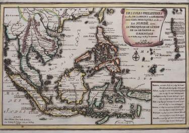DE FER RARE MAP OF PHILIPPINES  BORNEO JAVA