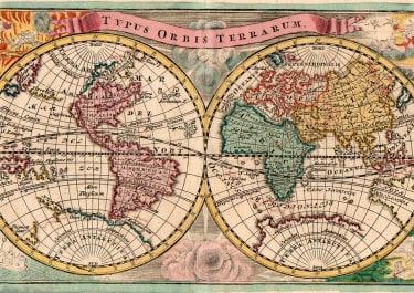 RARE WEIGEL WORLD MAP  CALIFORNIA ISLAND ORIGINAL COLOUR